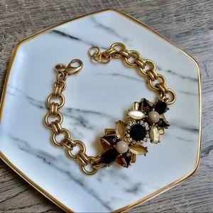 J.Crew crystal chain bracelet with clasp